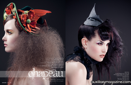 beauty editorial : chapeau