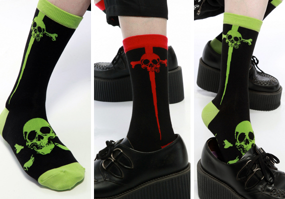 item of the week : dagger and skull socks