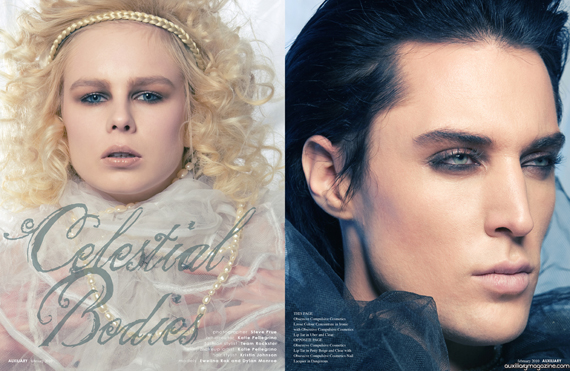 beauty editorial : celestial bodies