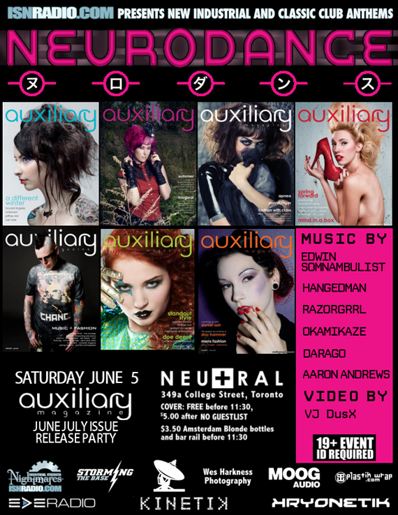 neurodance june/july issue release party