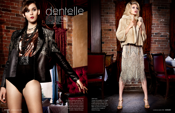 fashion editorial : dentelle