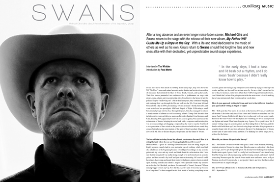 interview : Swans