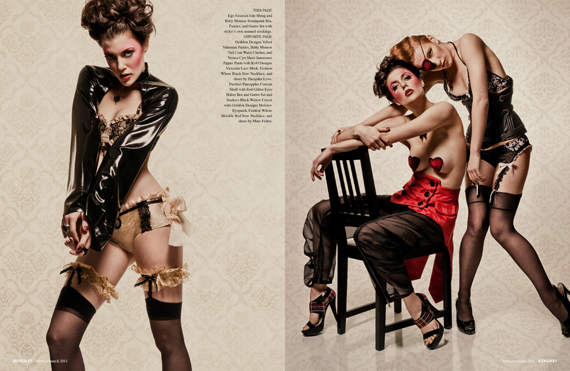 fashion editorial : Harlequin Valentine