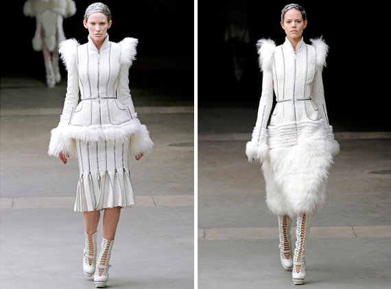 paris fashion week : Alexander McQueen fall 2011
