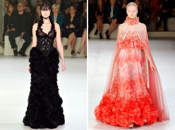 paris fashion week : Alexander McQueen spring 2012