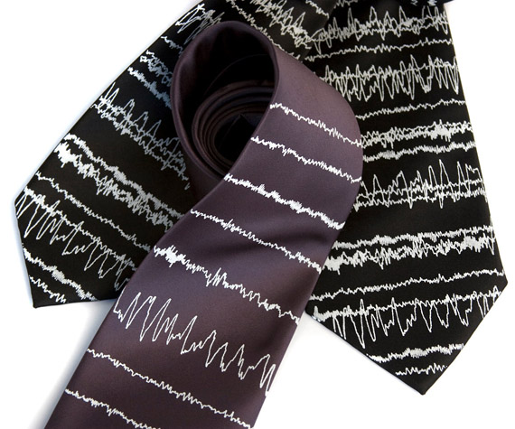 item of week : insomnia necktie by Cyberoptix Tie Lab