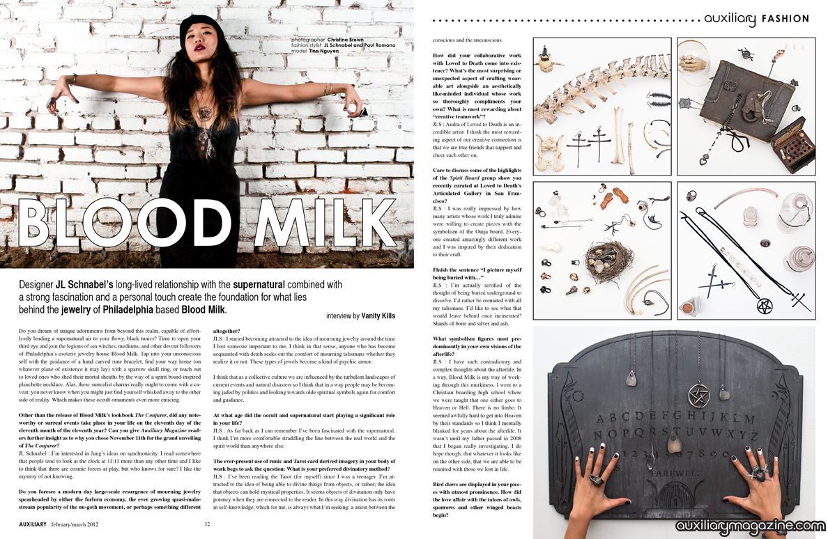 designer spotlight : Blood Milk