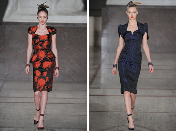 new york fashion week : Zac Posen fall 2012