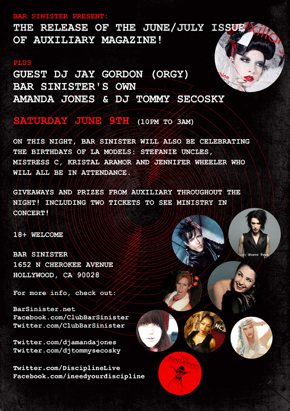 Bar Sinister June/July 2012 Issue release party