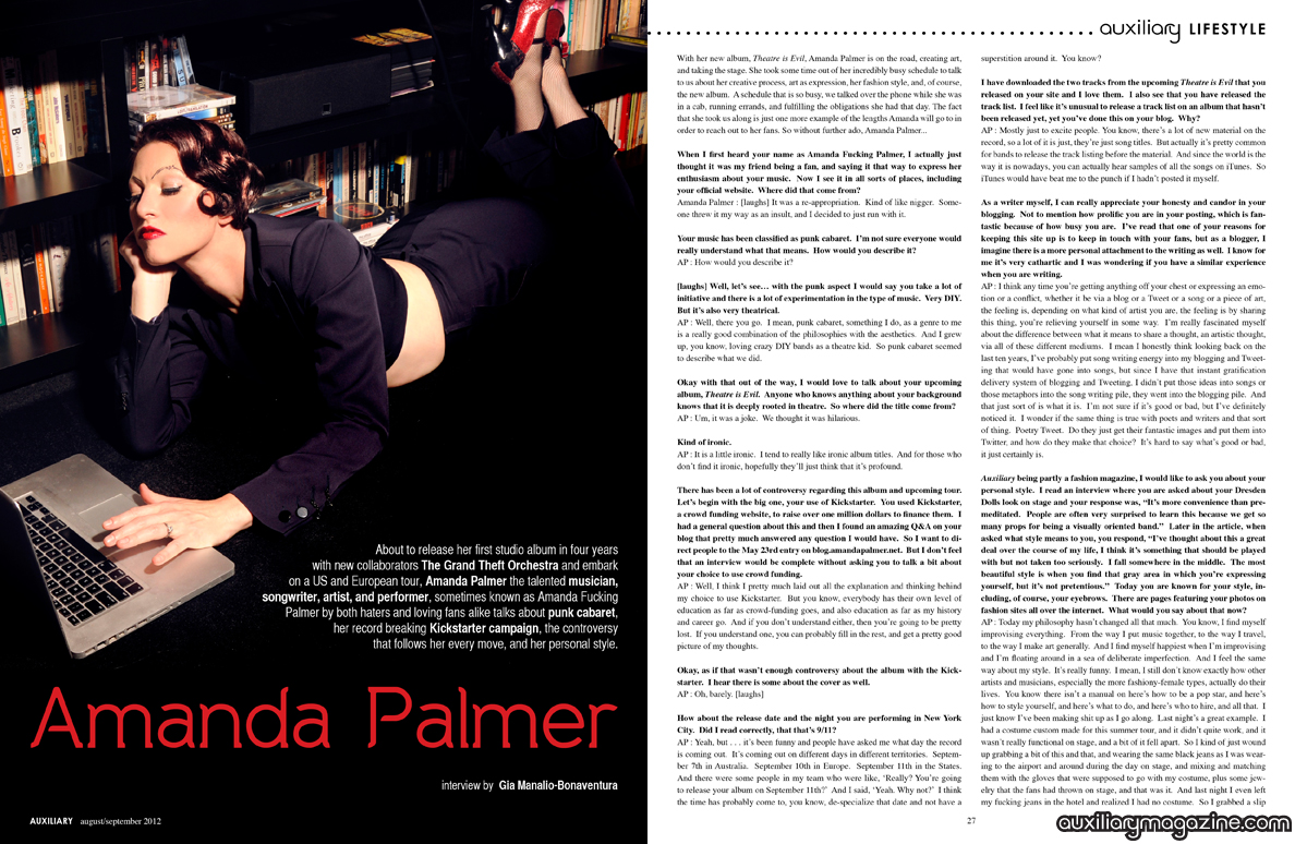 interview : Amanda Palmer