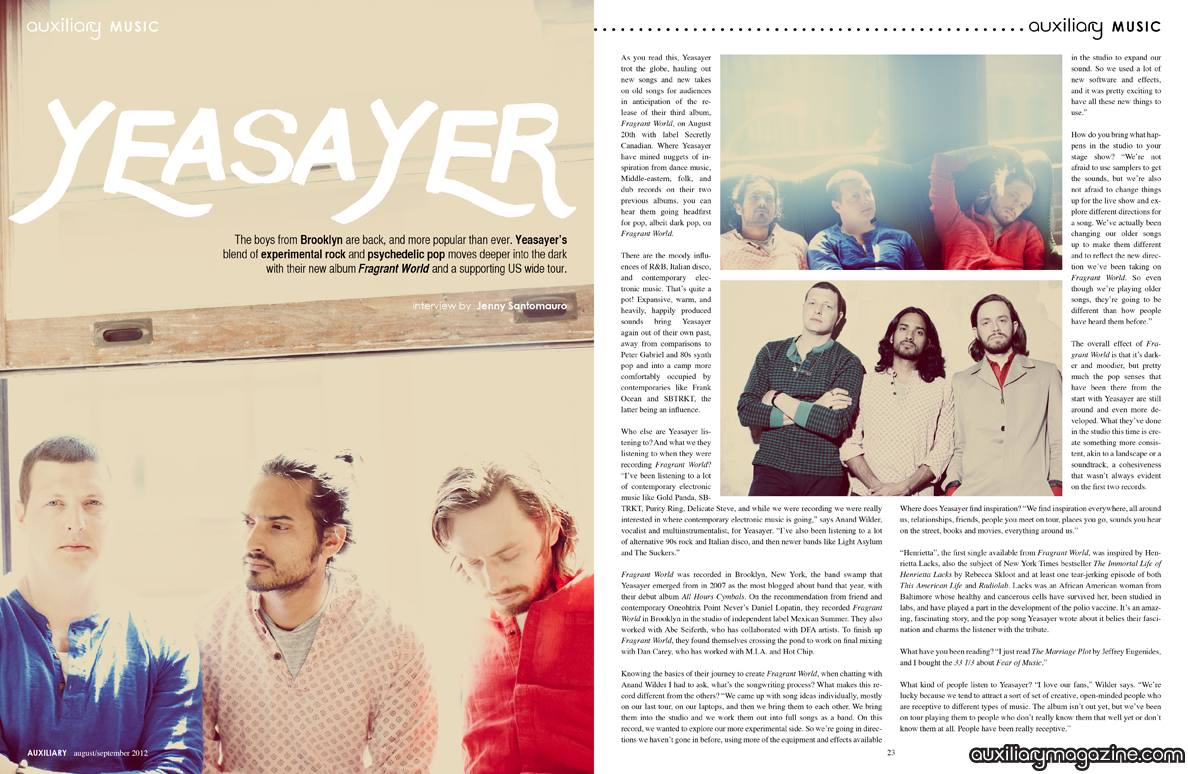 interview : Yeasayer