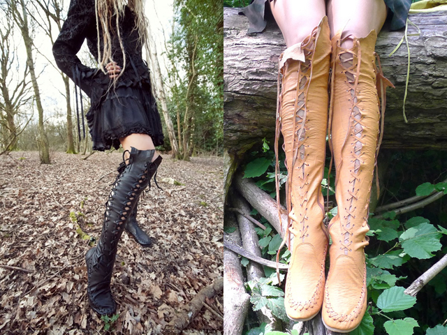 item of the week : Knee High Leather Boots by Gipsy Dharma
