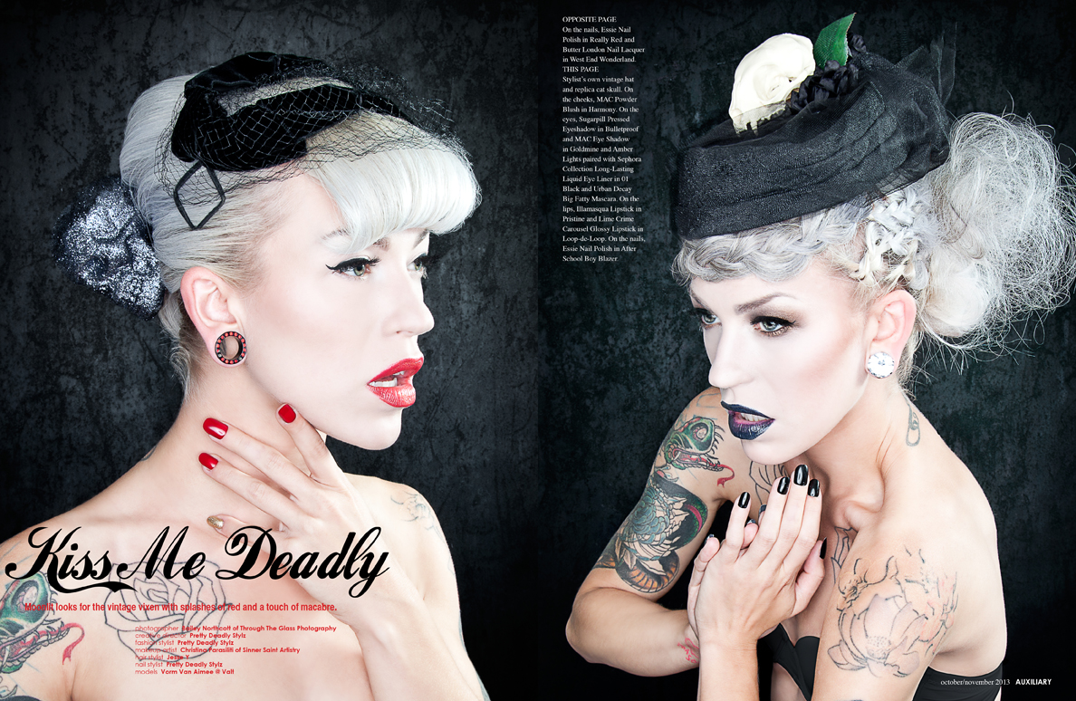beauty editorial : Kiss Me Deadly