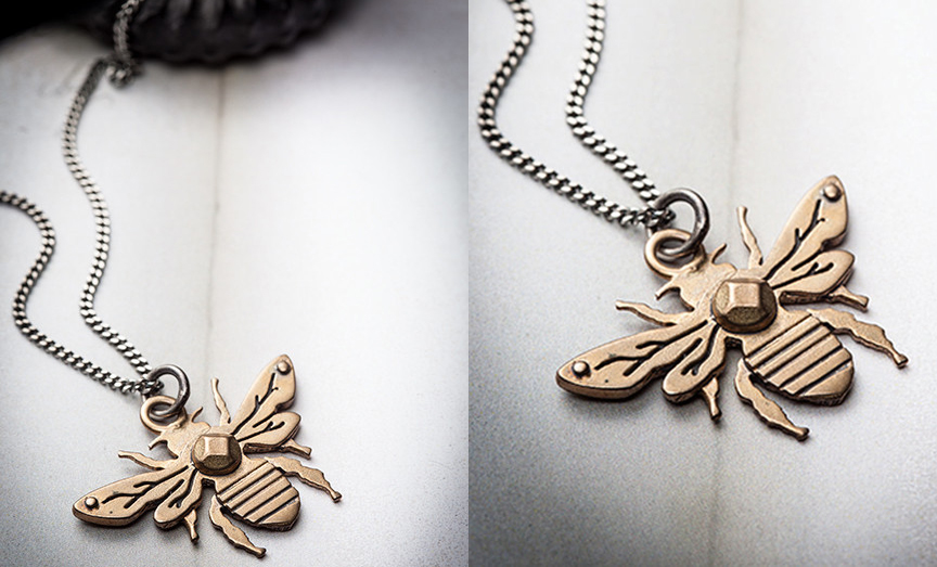 Permanent Link to item of the week : Honey Bee Necklace by Missy Industry