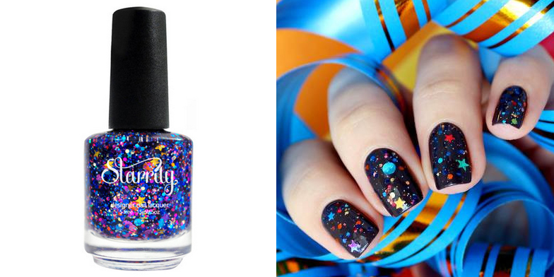 Galaxy Glitter Nail Polish by Starrily