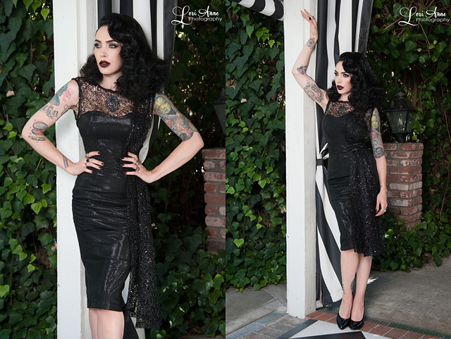 Permanent Link to item of the week : Black Widow Cocktail Dress by Tatyana