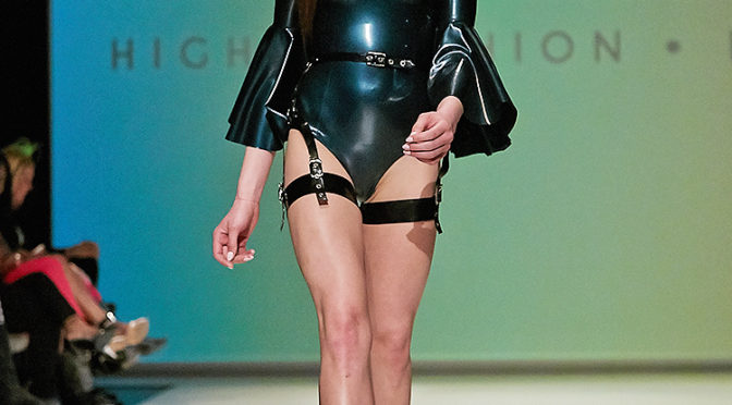 House of Etiquette's latex 2016 Collection at FAT fashion week