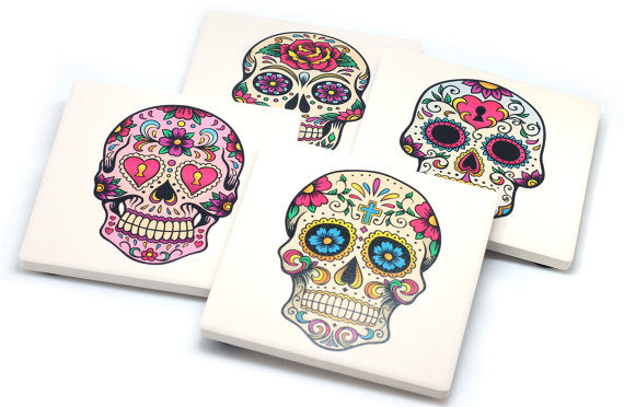 Sugar Skull Coasters by Clash Cases