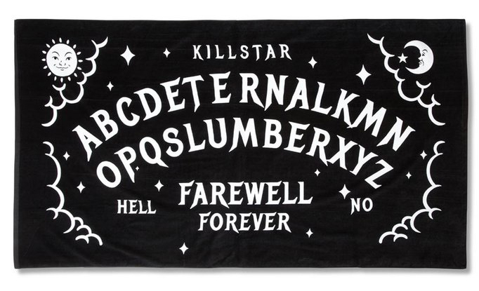 Slumber Goth Beach Towel by Killstar