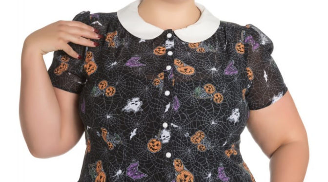 Halloween Harlow Blouse by Hell Bunny