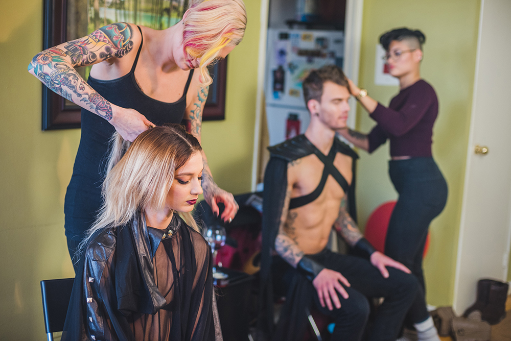 Behind the scenes of our Infatuation fashion editorial