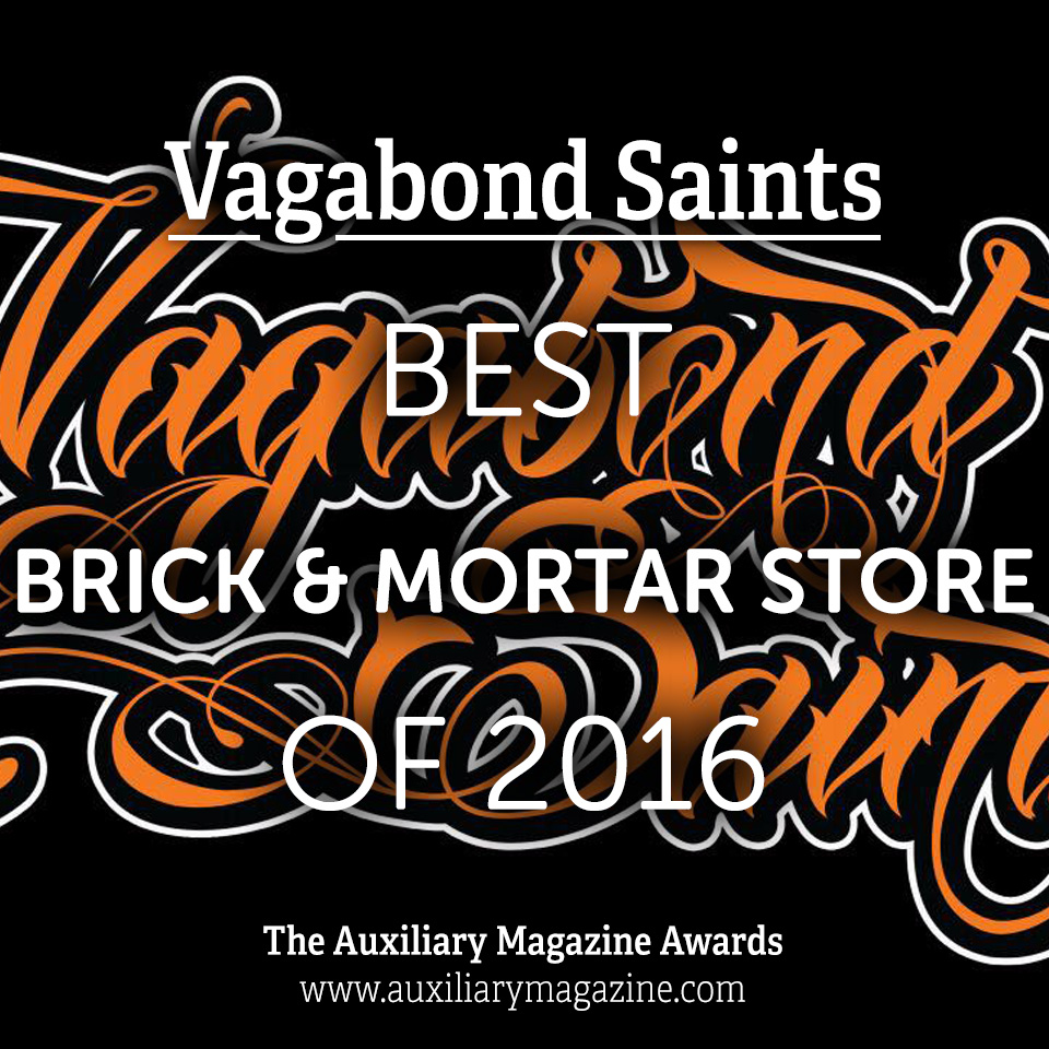 The Auxiliary Awards Best Brick and Mortar Store of 2016 Vagabond Saints
