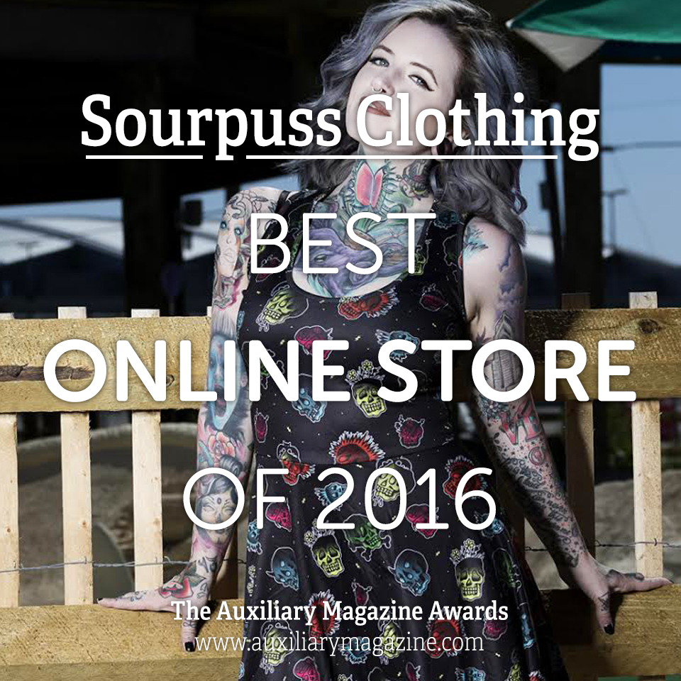 The Auxiliary Awards Best Online Store of 2016 Sourpuss Clothing