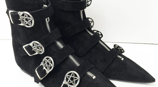 Original Pikes Pentagram Buckle Boots by The Gothic Shoe Company your go to Winklepickers