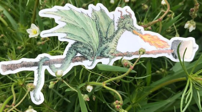 S'mores Dragon Sticker by Earl Grey Paper brings magic back to summer