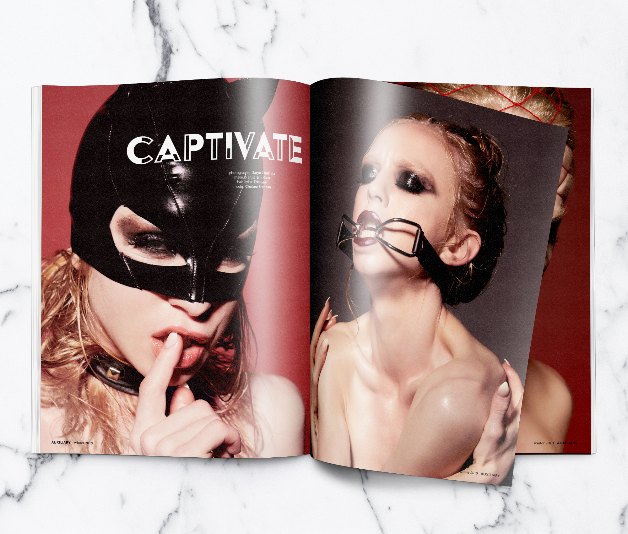 Auxiliary Magazine Winter 2019 Issue Captivate Beauty Editorial Spread