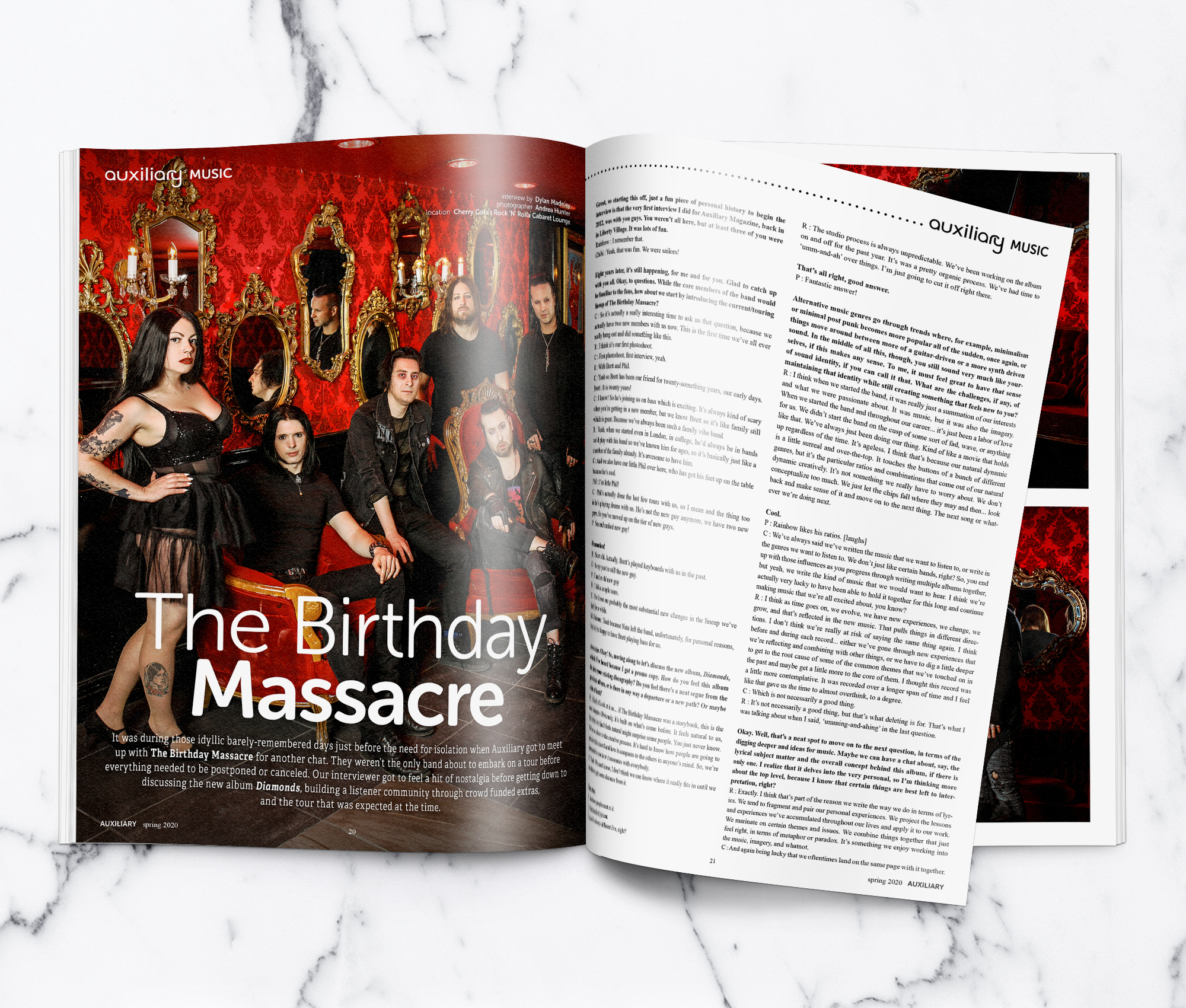 Auxiliary Magazine The Birthday Massacre Interview