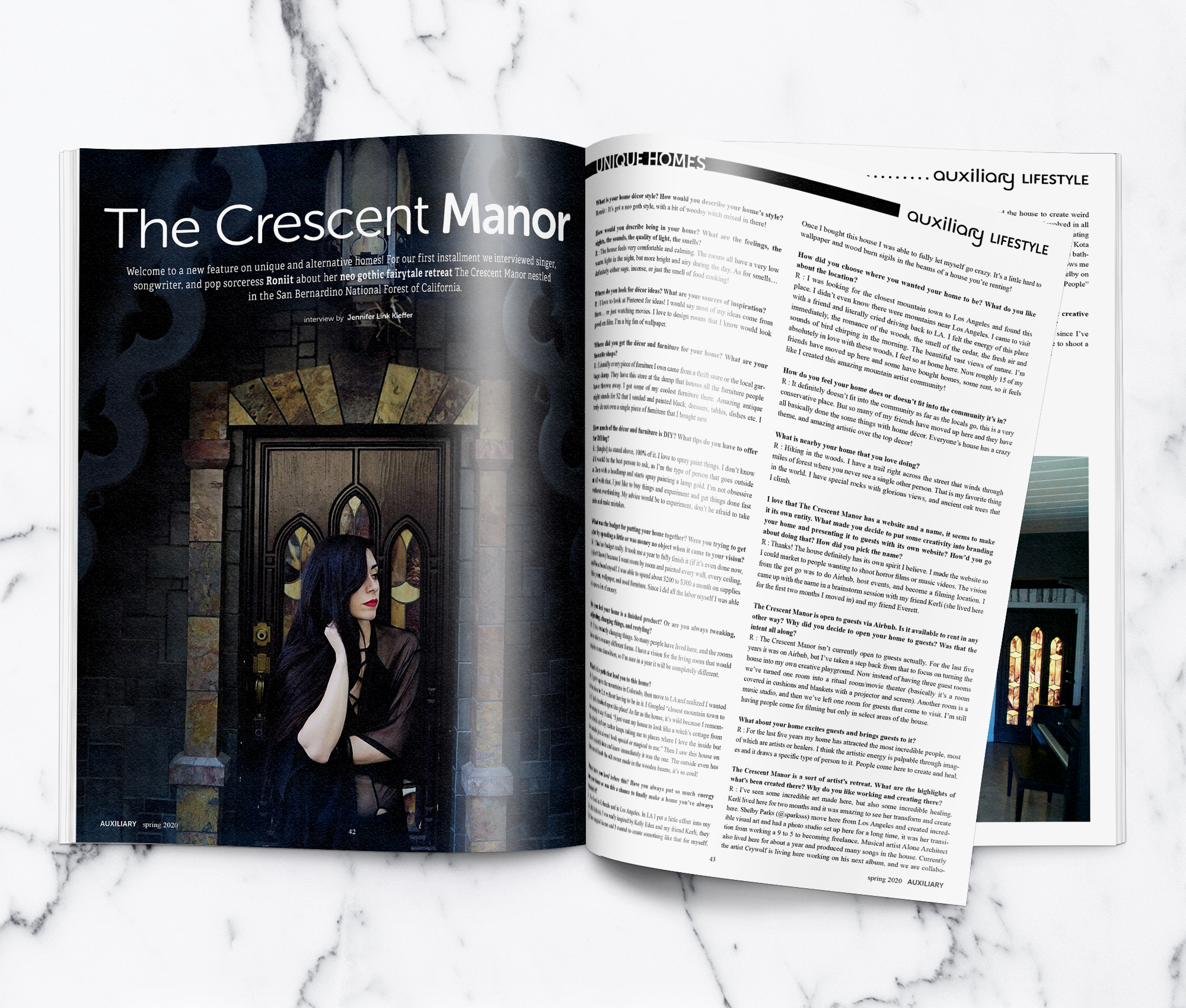 Auxiliary Magazine The Crescent Manor Unique Homes Feature Roniit Interview