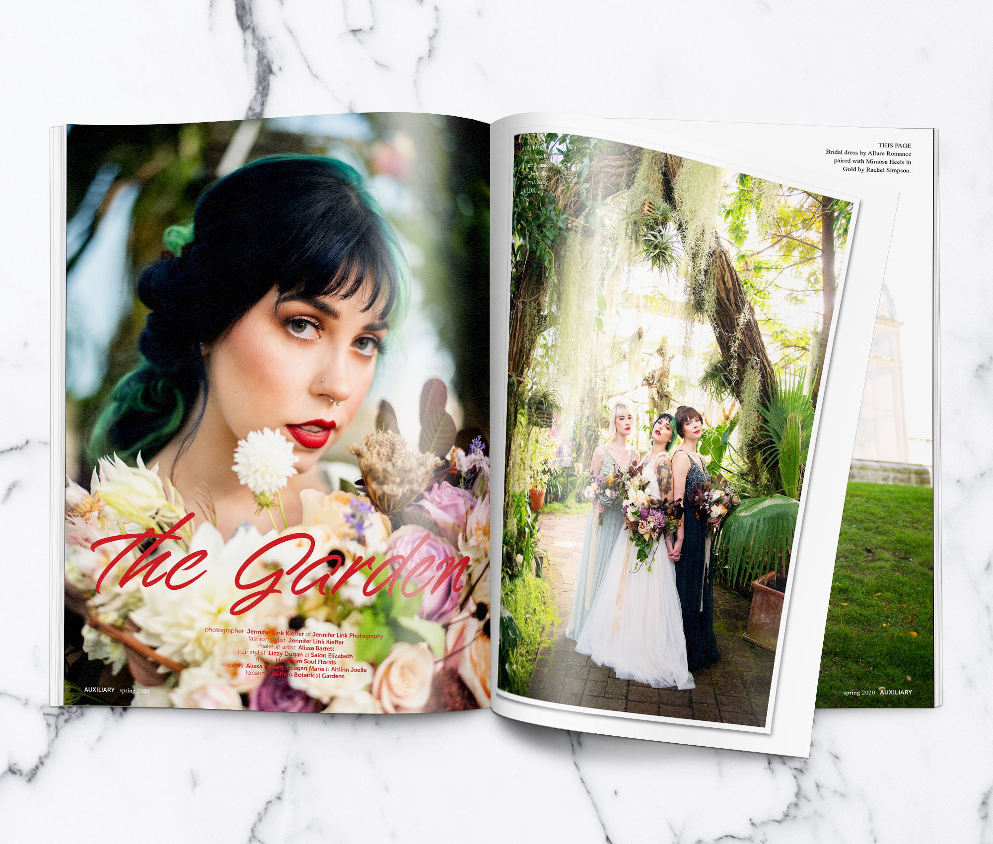 Auxiliary Magazine The Garden Alternative Wedding Fashion Editorial