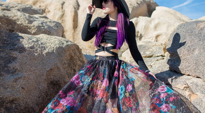 Flowers in the Desert fashion editorial featuring La Carmina