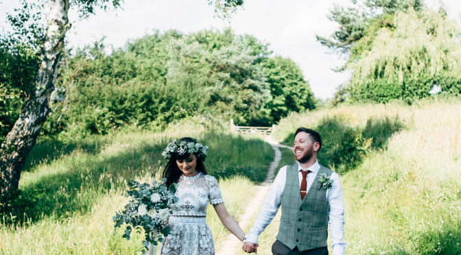 Nat and Dom's perfectly boho naturey alternative wedding