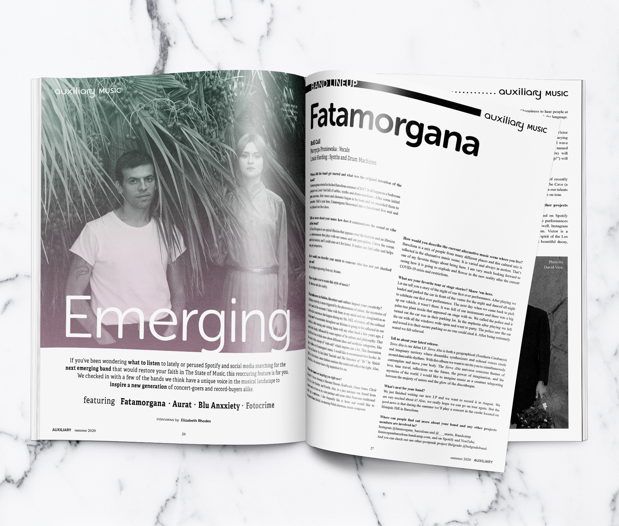 Emerging Band Lineup Fatamorgana Interview