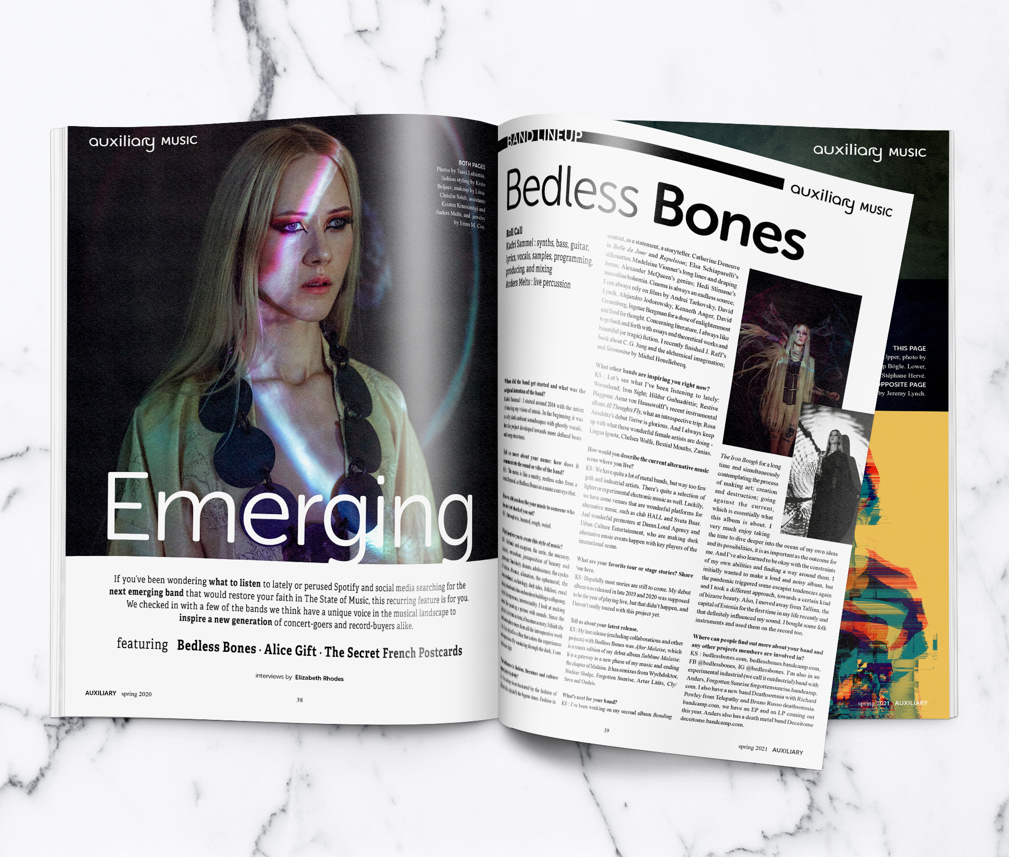Auxiliary Magazine Spring 2021 Issue Bedless Bones Teaser