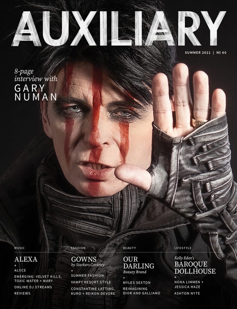 Auxiliary Magazine Summer 2021 Issue cover with Gary Numan
