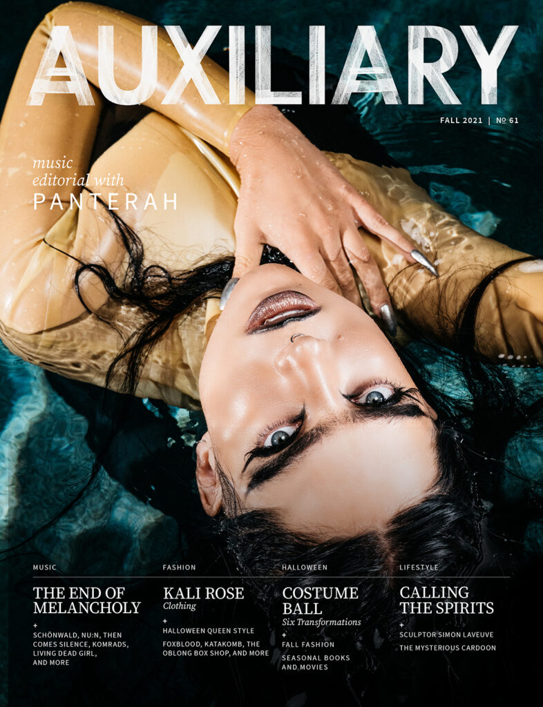 Auxiliary Fall 2021 Issue goth subculture magazine featuring Panterah
